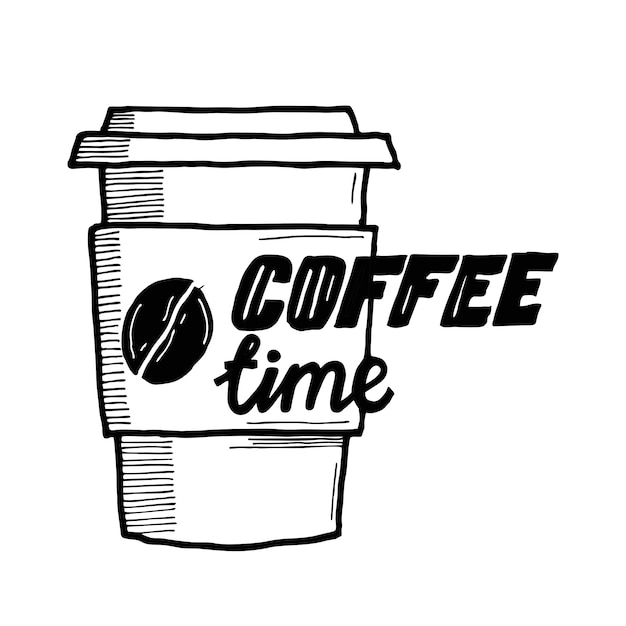 Kaffeezeit Premium Vektoren