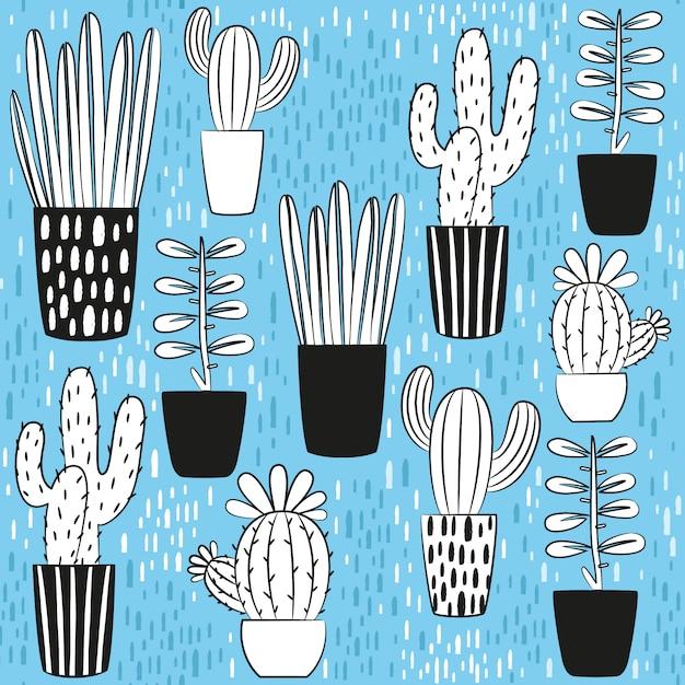 Kaktus-design-kollektion Kostenlosen Vektoren