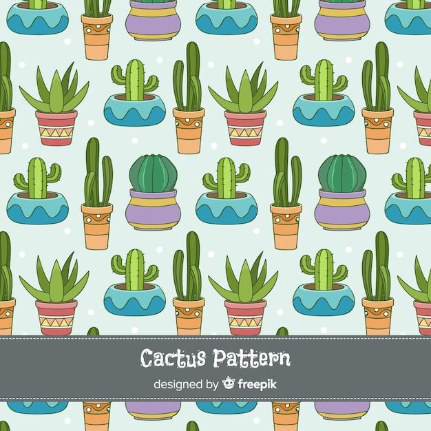 Kaktus im blumentopfhintergrund Kostenlosen Vektoren