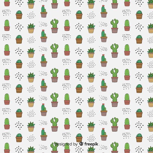 Kaktus-muster-sammlung Kostenlosen Vektoren