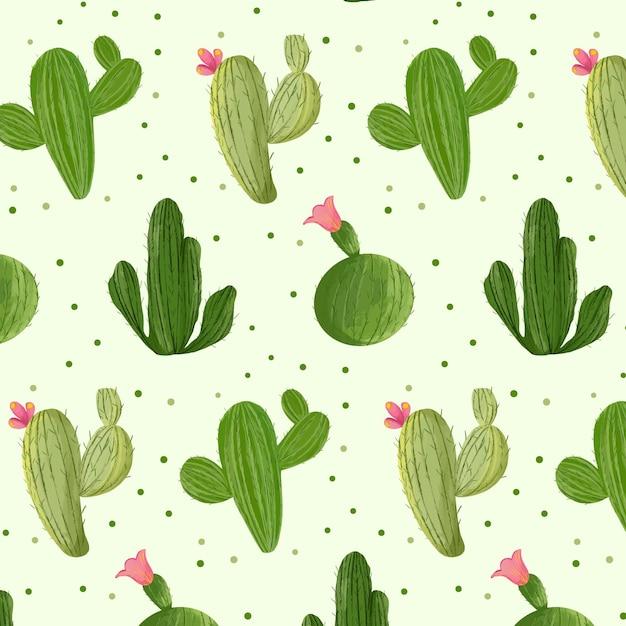 Kaktusmuster-sammlungskonzept Kostenlosen Vektoren