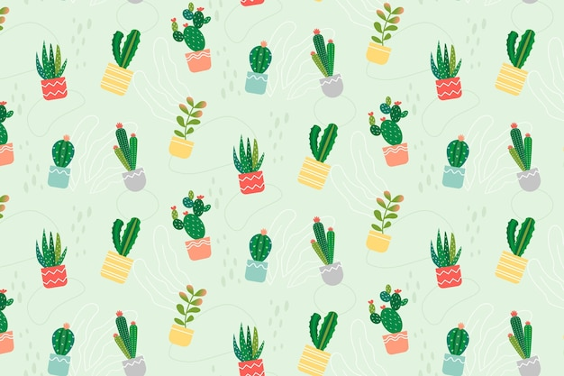 Kaktusmuster Kostenlosen Vektoren