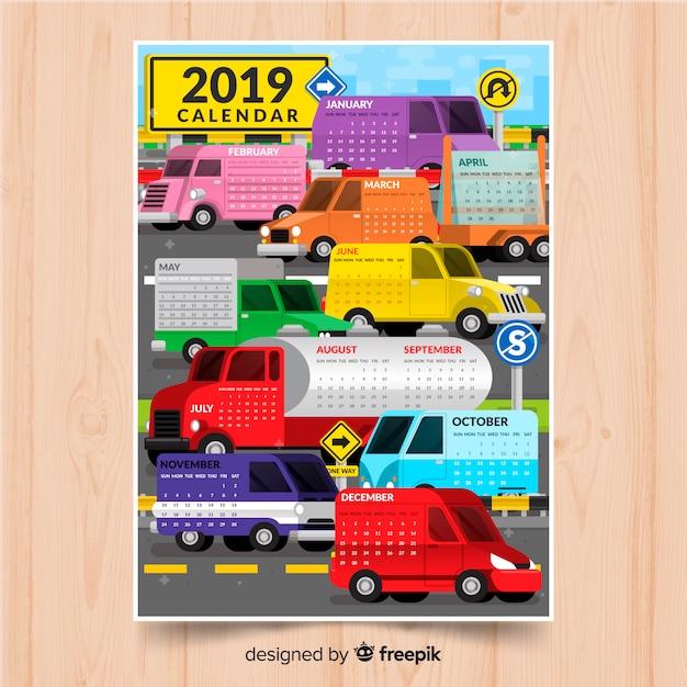 Kalender 2019 Kostenlose Vektoren