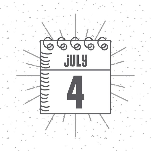 Kalender mit Usa Unabhängigkeitstag Datum Symbol   Download der ...