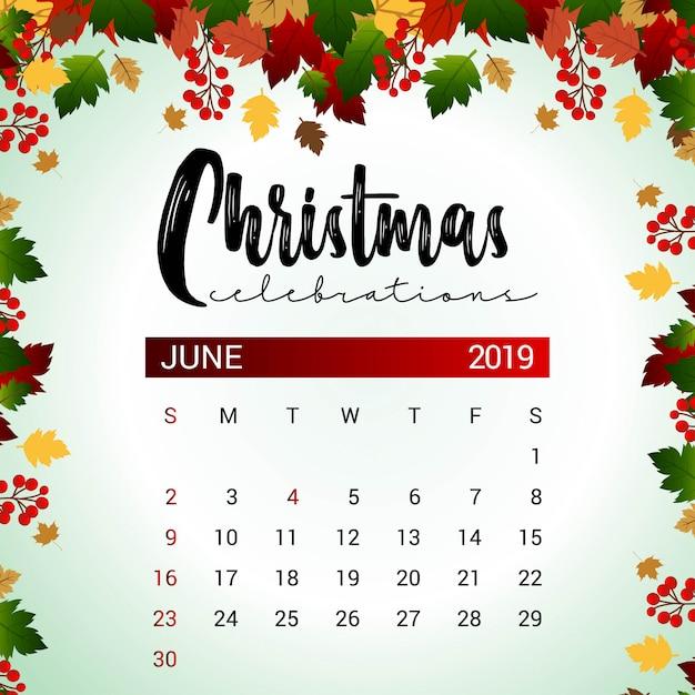 Kalender Weihnachten 2019.Kalenderentwurfsvorlage Für Den Kalender 2019 Für Weihnachten Oder