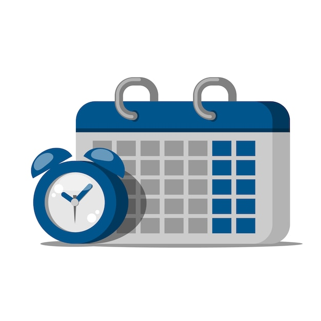 Kalendersymbol uhr Premium Vektoren
