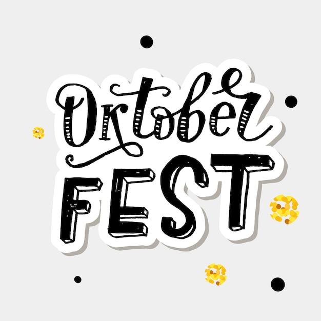 Kalligraphie-bürsten-text-feiertag oktoberfest-beschriftung Premium Vektoren