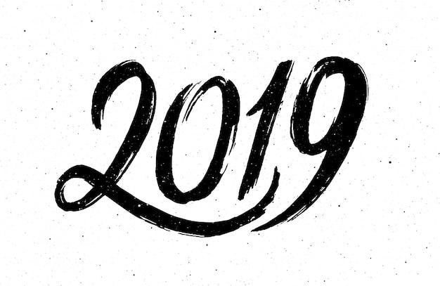 Kalligraphie für das neue jahr des schweines 2019 Premium Vektoren