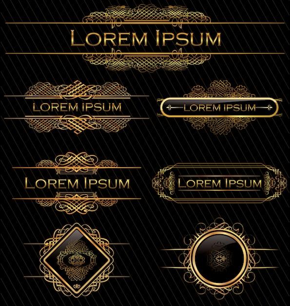 Kalligraphische designelemente Premium Vektoren