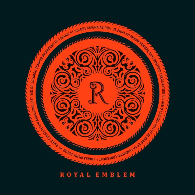 Kalligraphische logo-vorlage Premium Vektoren