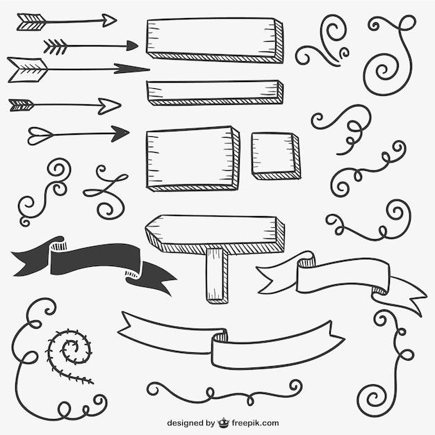 Kalligraphische zeichen und pfeile download der for Setas decoracion