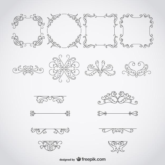 kalligraphischen rahmen und ornamente download der kostenlosen vektor. Black Bedroom Furniture Sets. Home Design Ideas