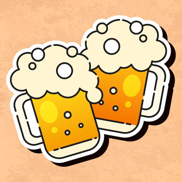 Kaltes bier-symbol Premium Vektoren