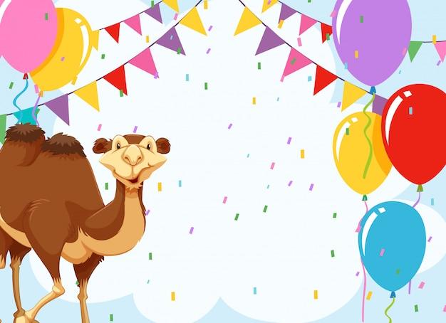 Kamel auf eine party einladen Kostenlosen Vektoren