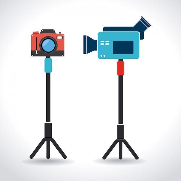 Kamera-design Premium Vektoren