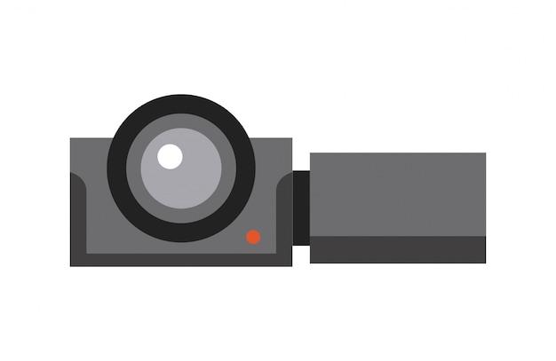 Kamera-kino-flache linie-symbol Premium Vektoren