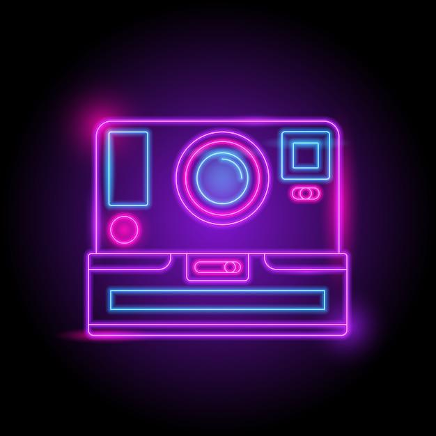 Kamera-neon-logo Premium Vektoren
