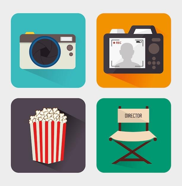 Kameradesign Premium Vektoren