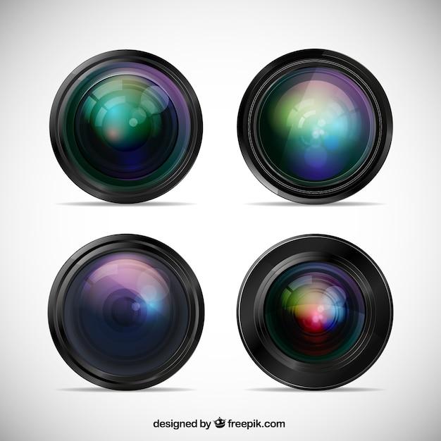 Kameraobjektiv Premium Vektoren