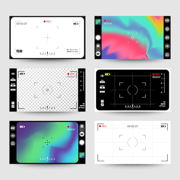 Kamerasucher Premium Vektoren