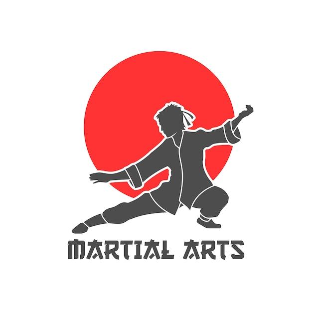 Kampfkunst logo illustration Kostenlosen Vektoren
