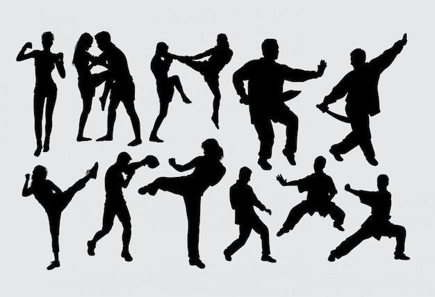 Kampfkunst Premium Vektoren