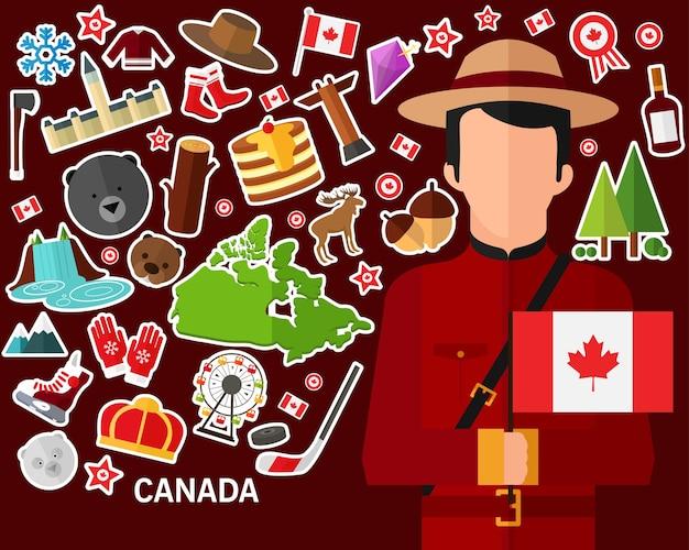 Kanada-konzept hintergrund Premium Vektoren