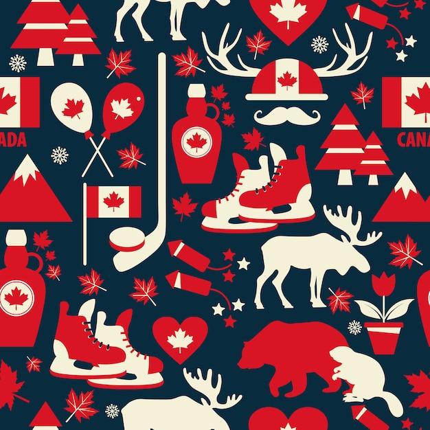 Kanada nahtlose muster. Premium Vektoren