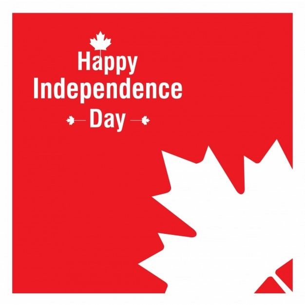 Kanada unabhängigkeit tag-blatt-hintergrund Kostenlosen Vektoren