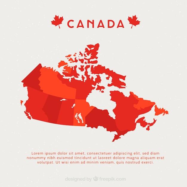Kanadische karte Kostenlosen Vektoren