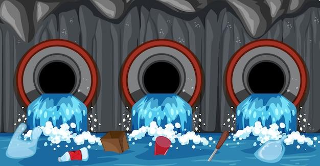 Kanalrohrsystem vom haushalt Kostenlosen Vektoren