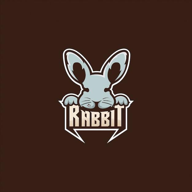 Kaninchen logo abbildung Premium Vektoren