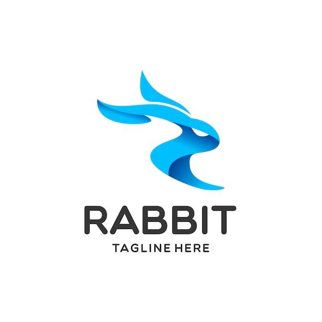 Kaninchen logo vorlage Premium Vektoren