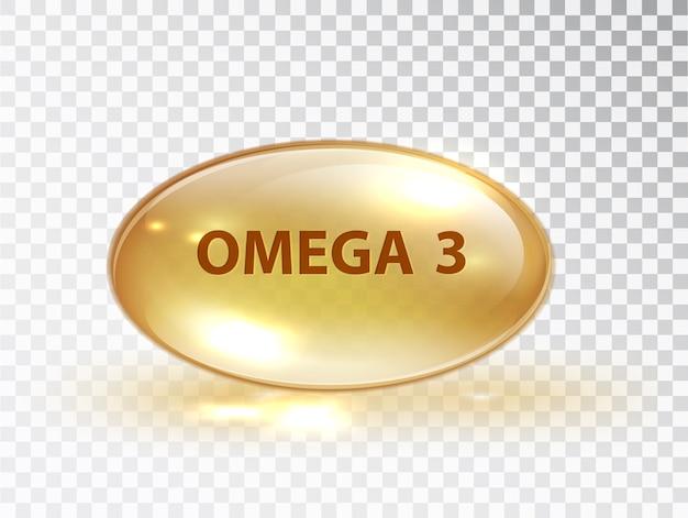 Kapsel mit omega 3. Kostenlosen Vektoren