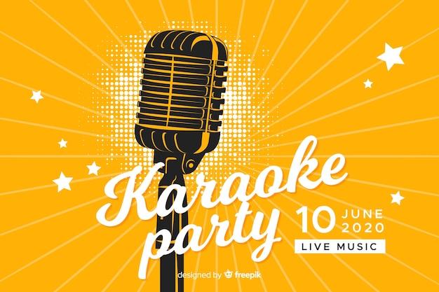 Karaoke banner vorlage flachen stil Premium Vektoren