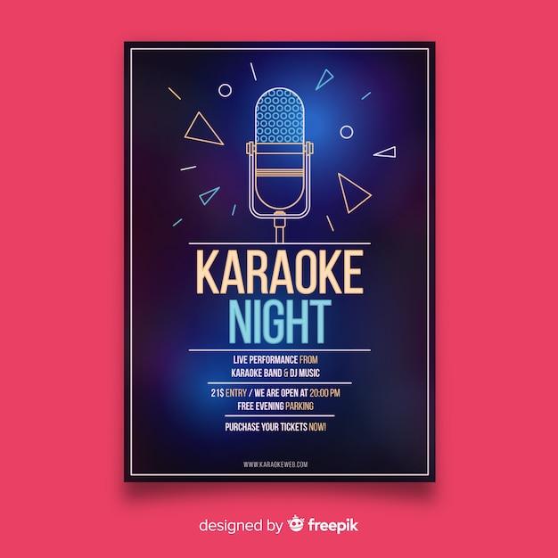 Karaoke night party flyer vorlage Kostenlosen Vektoren