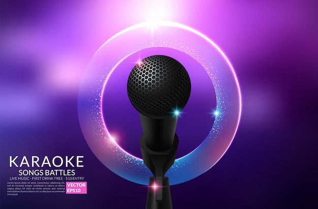 Karaoke party einladung flyer vorlage Premium Vektoren