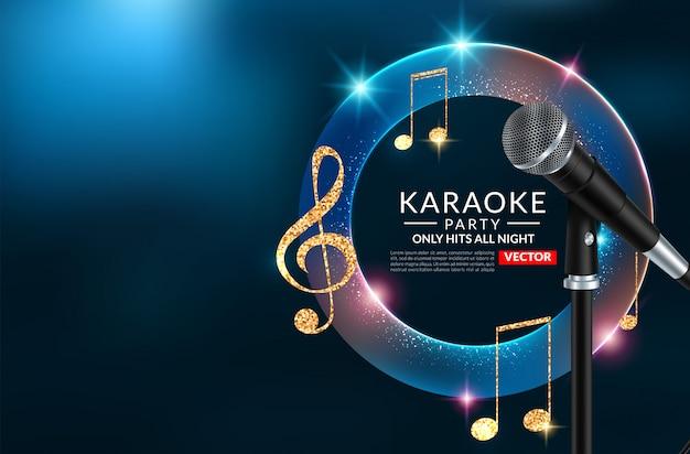 Karaoke party einladung plakat vorlage, karaoke nacht flyer Premium Vektoren