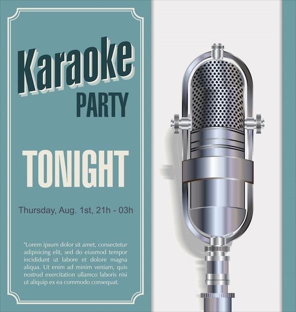 Karaoke-party-hintergrund Premium Vektoren