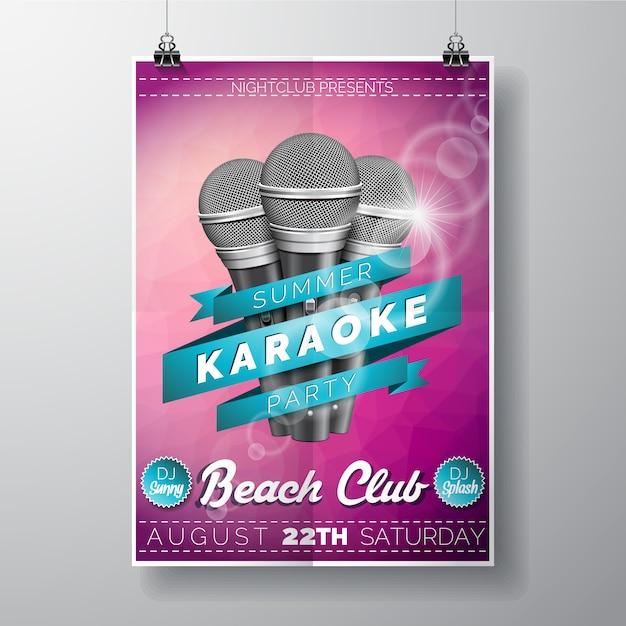 Karaoke-partyplakat Kostenlosen Vektoren