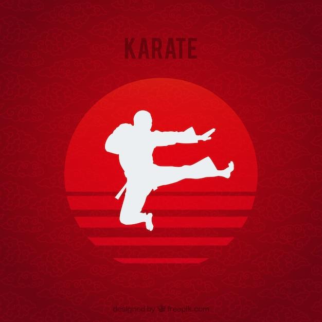 Karate kid Kostenlosen Vektoren