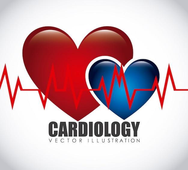 Kardiologie-symbol Premium Vektoren