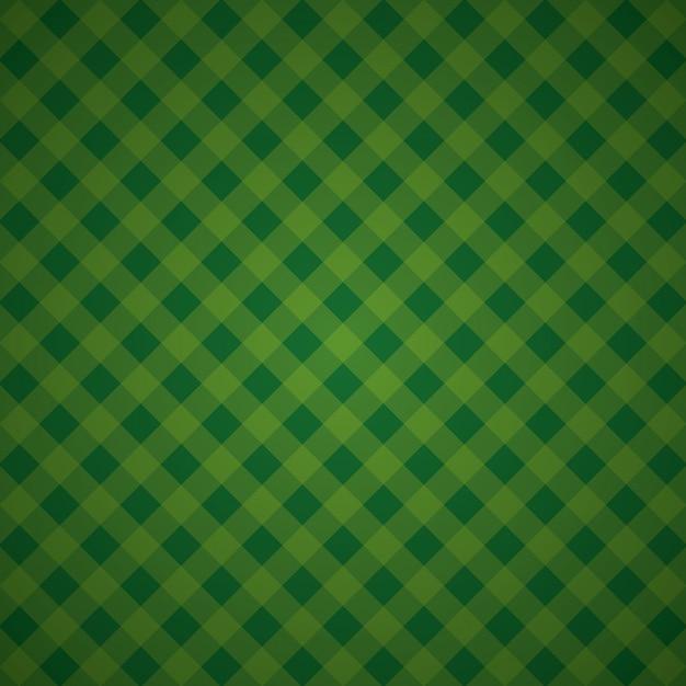 Kariertes textilmosaik des grünen geometrischen hintergrundes Kostenlosen Vektoren