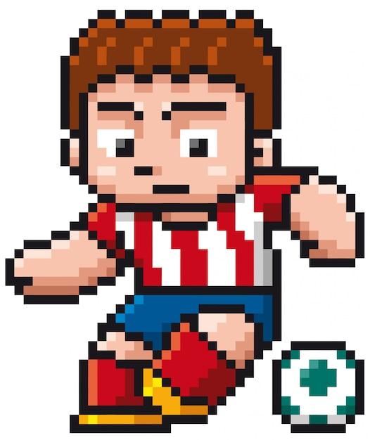 Karikatur-fußballspieler - pixeldesign Premium Vektoren