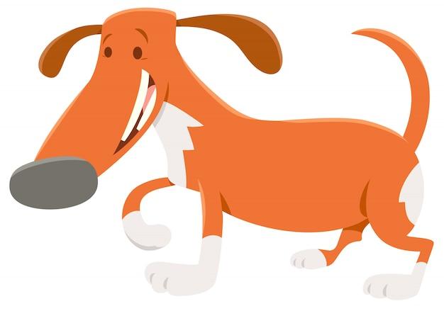 Karikatur-illustration des beschmutzten hundetiercharakters Premium Vektoren