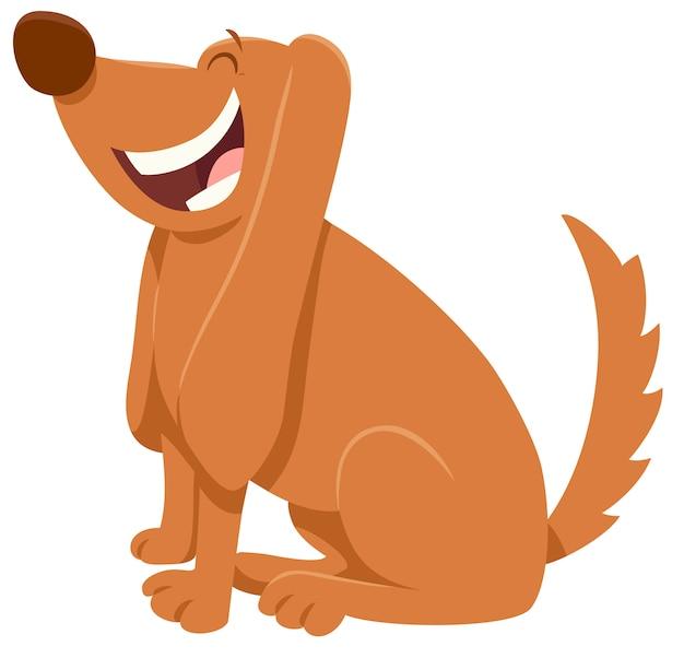 Karikatur-illustration des brown-hundetiercharakters Premium Vektoren