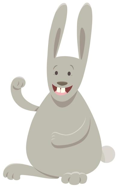 Karikatur-illustration des kaninchen-tiercharakters Premium Vektoren