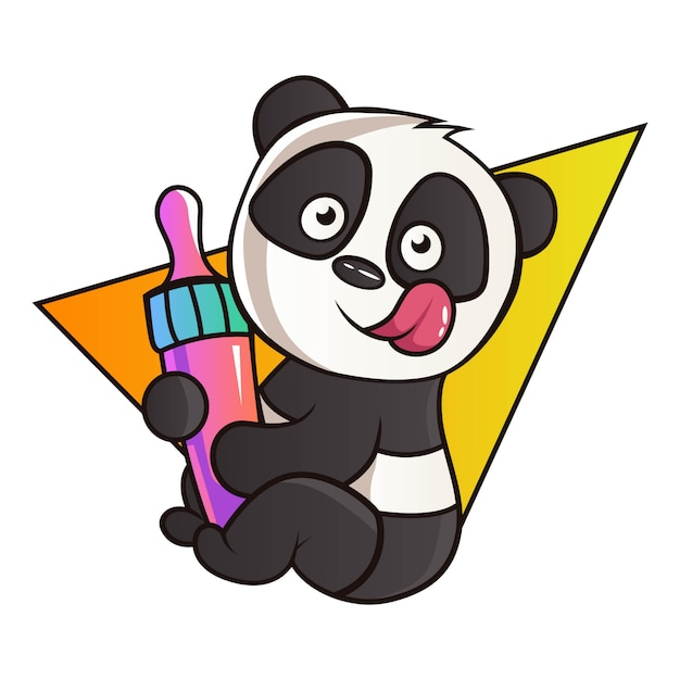 Karikatur-illustration des pandas. Premium Vektoren