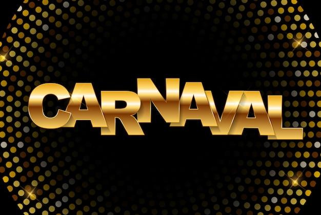 Karneval goldenes banner. illustration Premium Vektoren