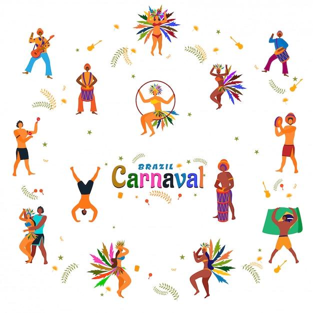 Karneval-hintergrund. Premium Vektoren